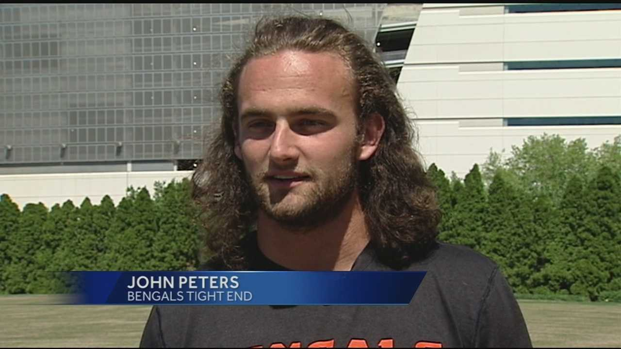 Tight end John Peters graduated from Lakota West High School and Mount Saint Joseph University and is now playing for the Cincinnati Bengals.
