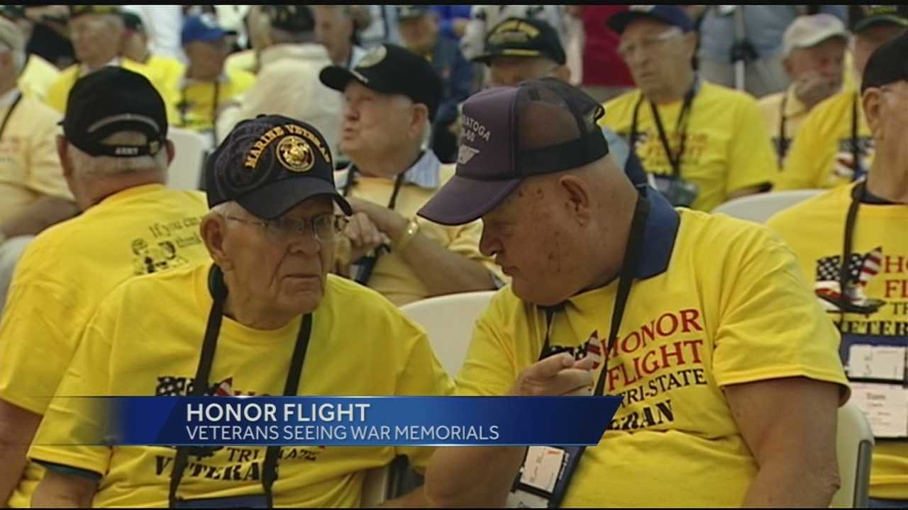 "The veterans traveled to Washington D.C. Tuesday morning. They boarded a flight paid for by people who participated in the inaugural ""Honor Run half marathon and two-person relay."""