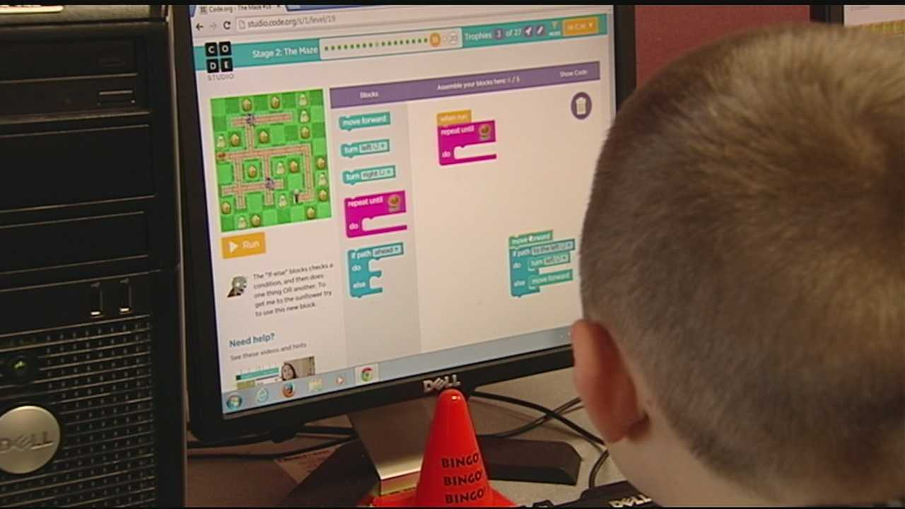 According to officials, teaching kids the language of computers at an early age can open doors in the future which may not exist yet. WLWT's Todd Dykes recently visited two schools in Greater Cincinnati where students are talking about technology in an innovative new way. At Piner Elementary School in southern Kenton County, Principal Christi Jefferds has started an after school coding club.