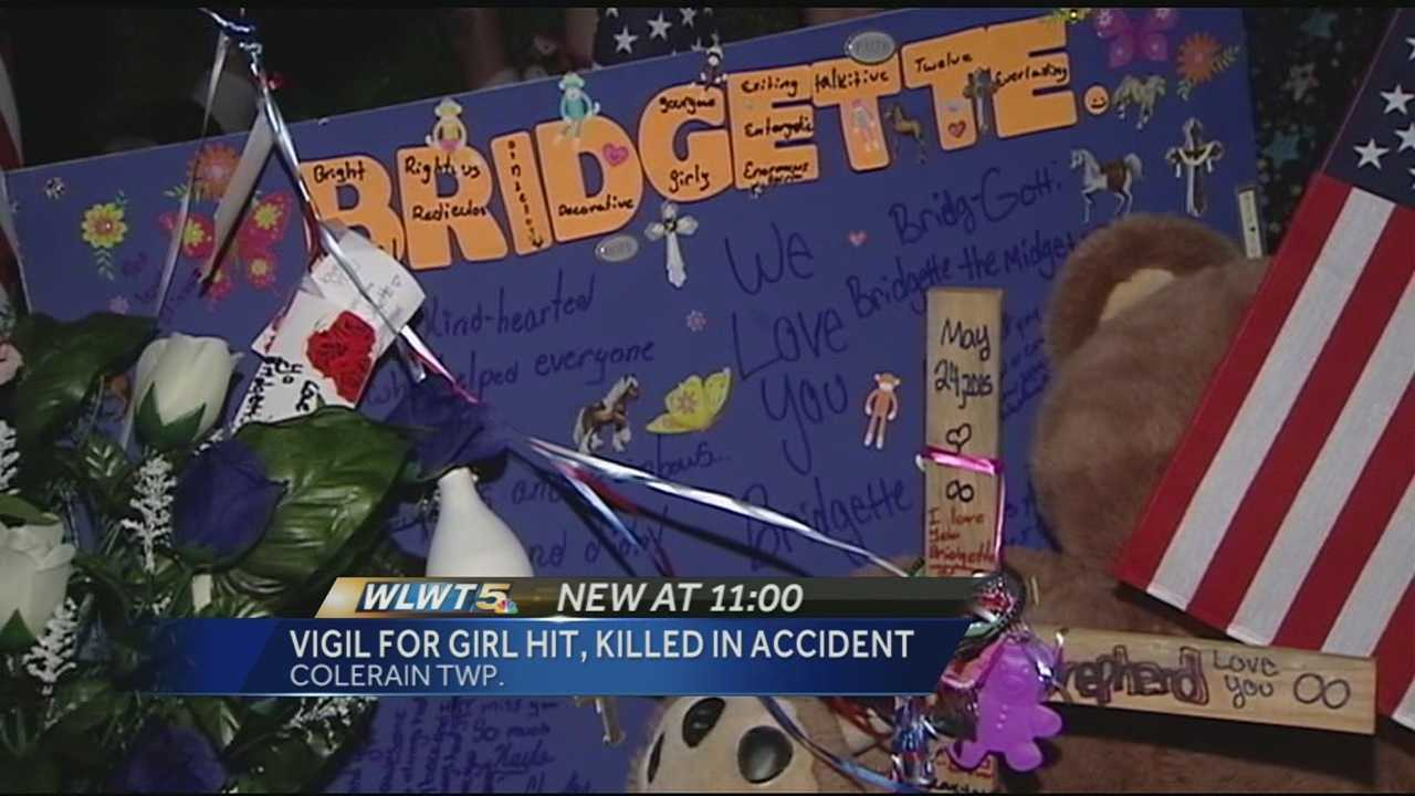 Along a stretch of Pippen Road in Colerain Township Monday sits a red rose, a teddy bear and a bouquet of balloons. They're items that Bridgette Shepherd's family and friends say the 12-year-old loved, and now they now mark the spot where she was struck and killed by a car on Sunday afternoon.