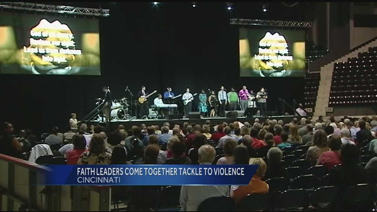 Leaders across different faiths joined together to fight back against violence, poverty, social injustice and hunger in the Queen City.