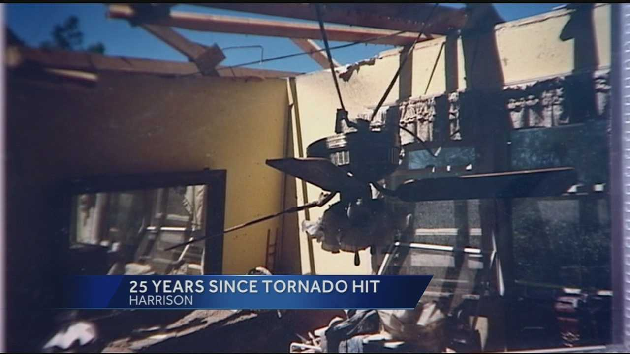 The community of Harrison looks back on the tornado that hit their town 25 years ago today in 1990.