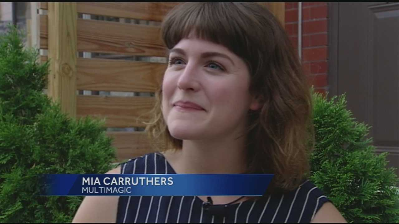 WLWT News 5's Jackie Congedo caught up with Mia Carruthers outside her favorite Over-the-Rhine eatery, just a few blocks from SCPA, where she went to high school. Friday at 3 p.m. the singer and bassist will take the main stage at one of Cincinnati's premiere music festivals.