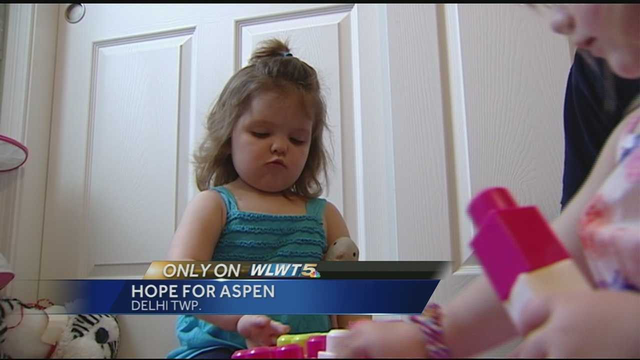 Travis and Brittney Franklin moved across the country to Cincinnati to be close to Children's Hospital where their daughter, Aspen, is being treated for hemophagocytic lymphohistiocytosis, or HLH.