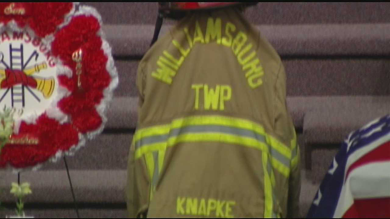 Lt. David Knapke, 57, collapsed at a fire in Mount Orab on May 30. He passed away a week later.