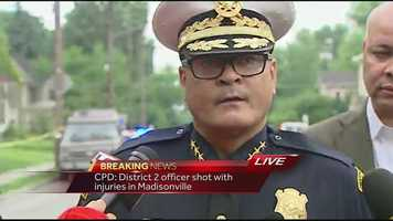 """Chief Jeffrey Blackwell holds a news conference explaining the situation. """"CPD lost one of our best today,"""" Blackwell says.Watch the chief's comments"""