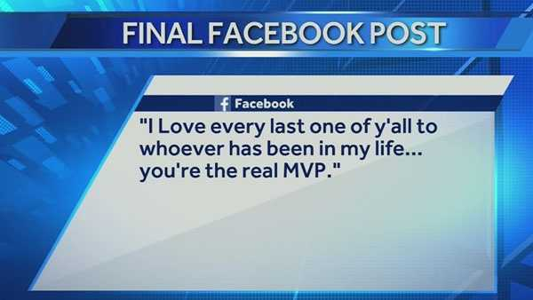 The above was the final post on Hummons' Facebook page the morning of the shootout.