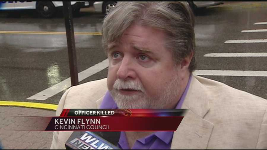 """Condolences from across the Greater Cincinnati area came pouring in Friday afternoon. """"We've lost a family member. All the brother and sister officers every day, every shift, they go out there knowing this is a possibility,"""" Councilman Kevin Flynn said. """"We need to honor this police officer that gave the ultimate sacrifice, and we need to pray for our city and pray that the violence stops.""""Watch this story"""