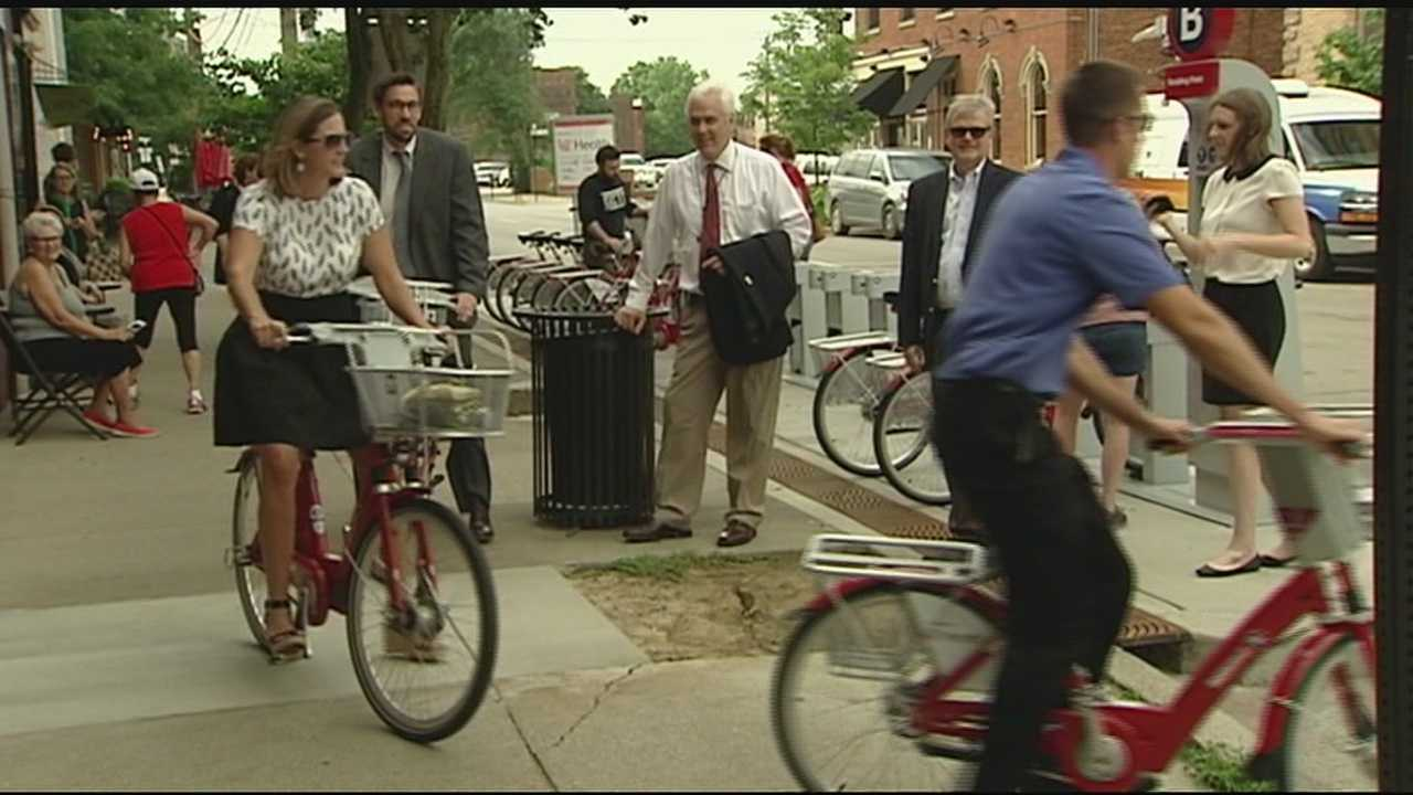A bike sharing program is now hitting the pavement in new locations, such as Covington.