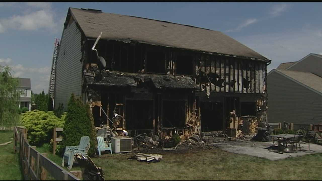 Fire investigators said a fire sparked by lightning in Florence Thursday morning gutted a family's home. Firefighters responded to the 6200 block of Hobbitsrun Lane for reports of heavy smoke and fire showing at the home.