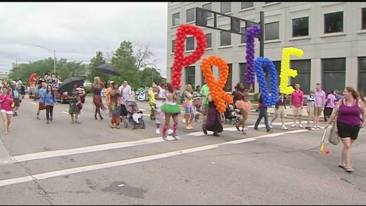 Participants pound the pavement in annual Pride Parade