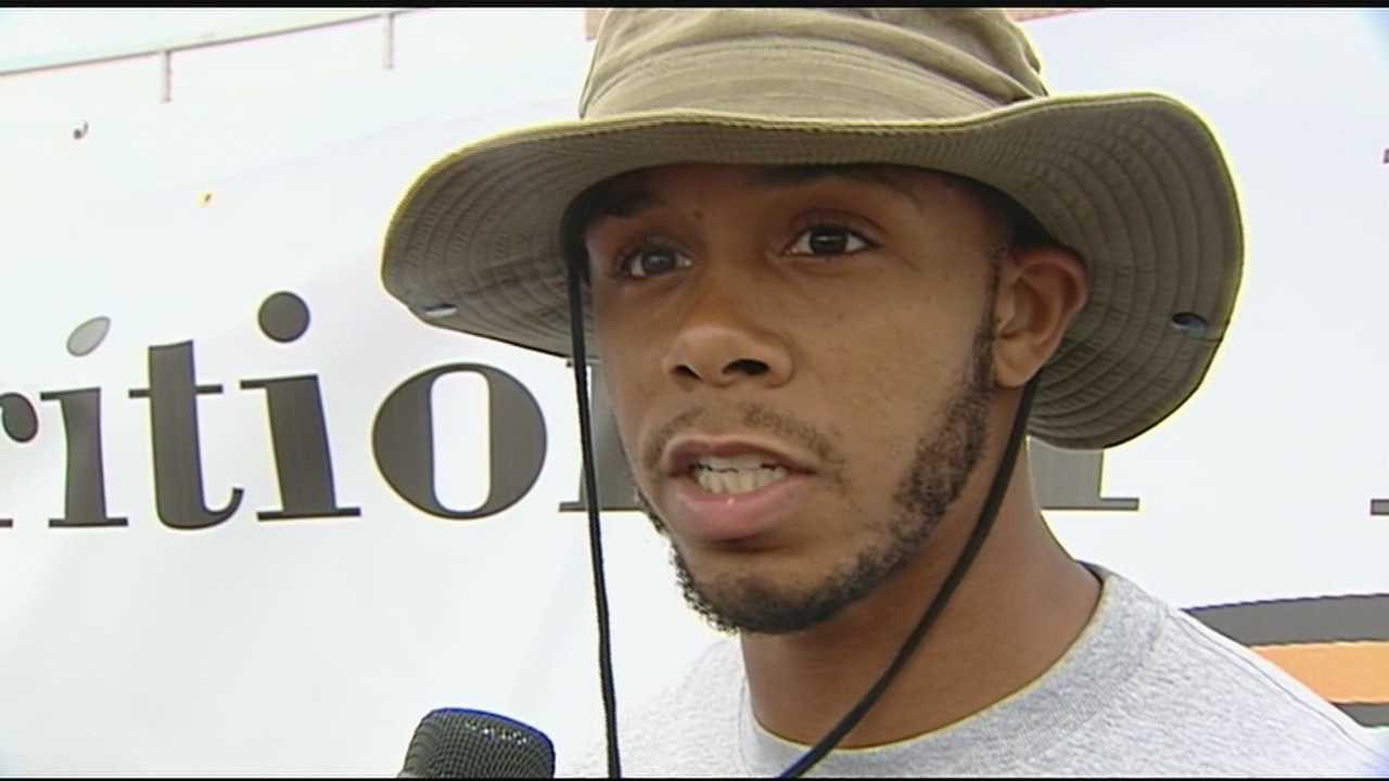 2008 La Salle graduate and Ohio State alumni Devier Posey was back at his high school alma mater Saturday to host a football camp.