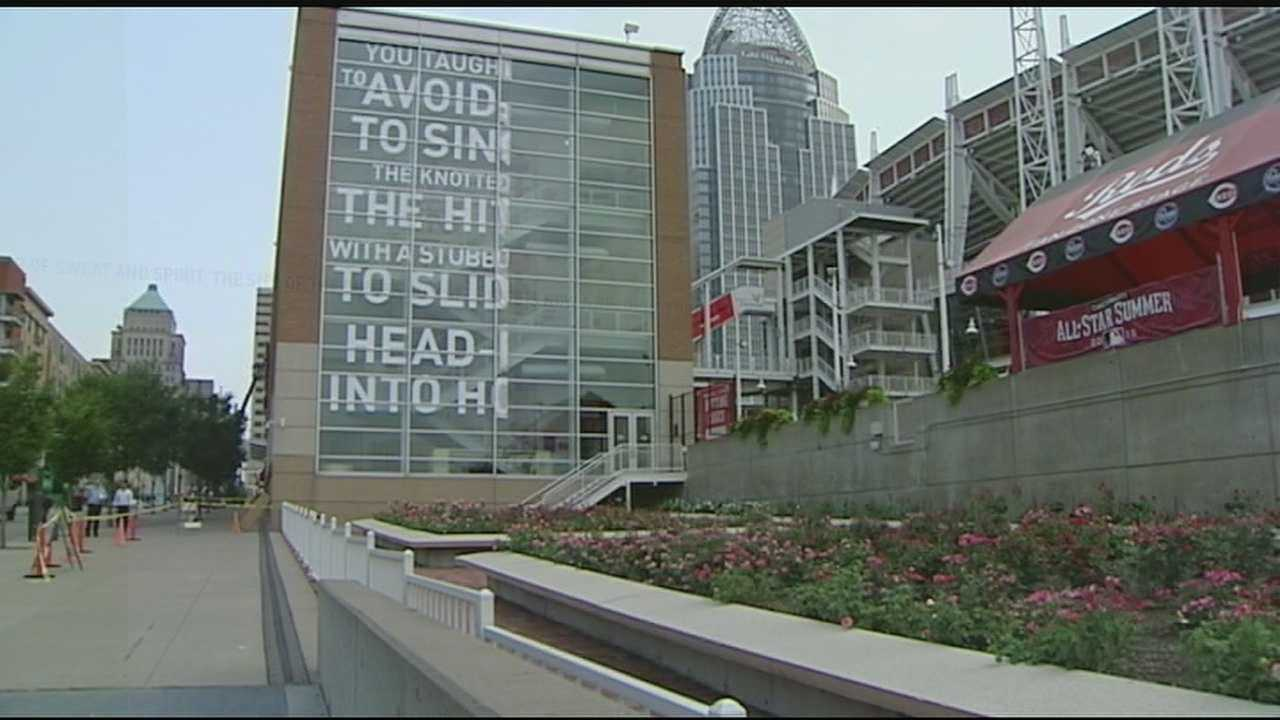 New murals are popping up outside the Great American Ball Park just in time for the All-Star game. This is a part of an effort to keep Cincinnati vibrant and progressive.