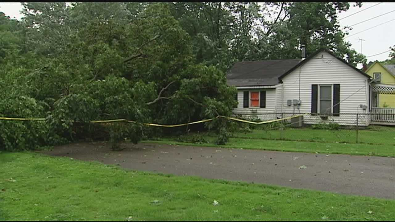 Residents are working to clean up aftermath of Tuesday's severe storms