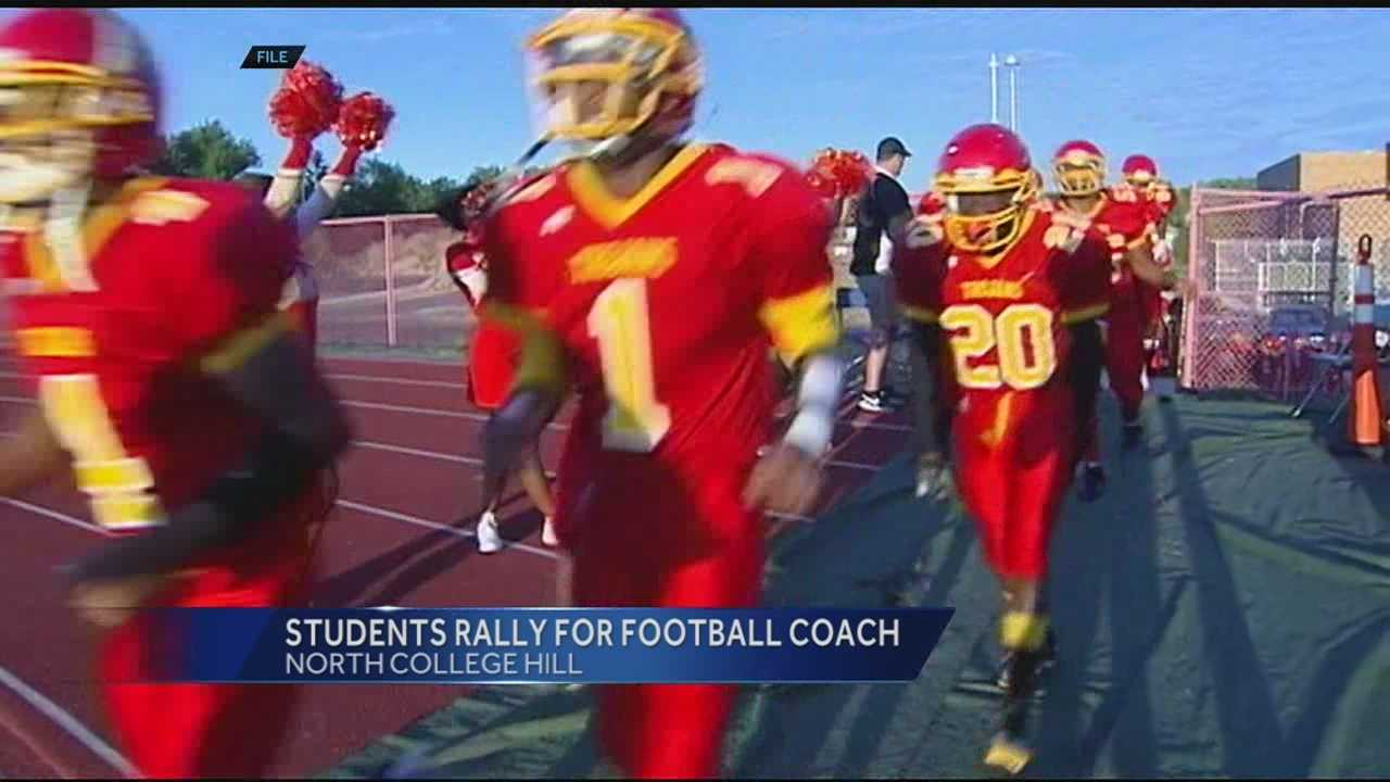 Students at North College Hill are fundraising for their football coach, who is fighting cancer.