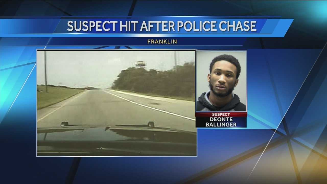 Dash cam video captures Monday's high-speed chase