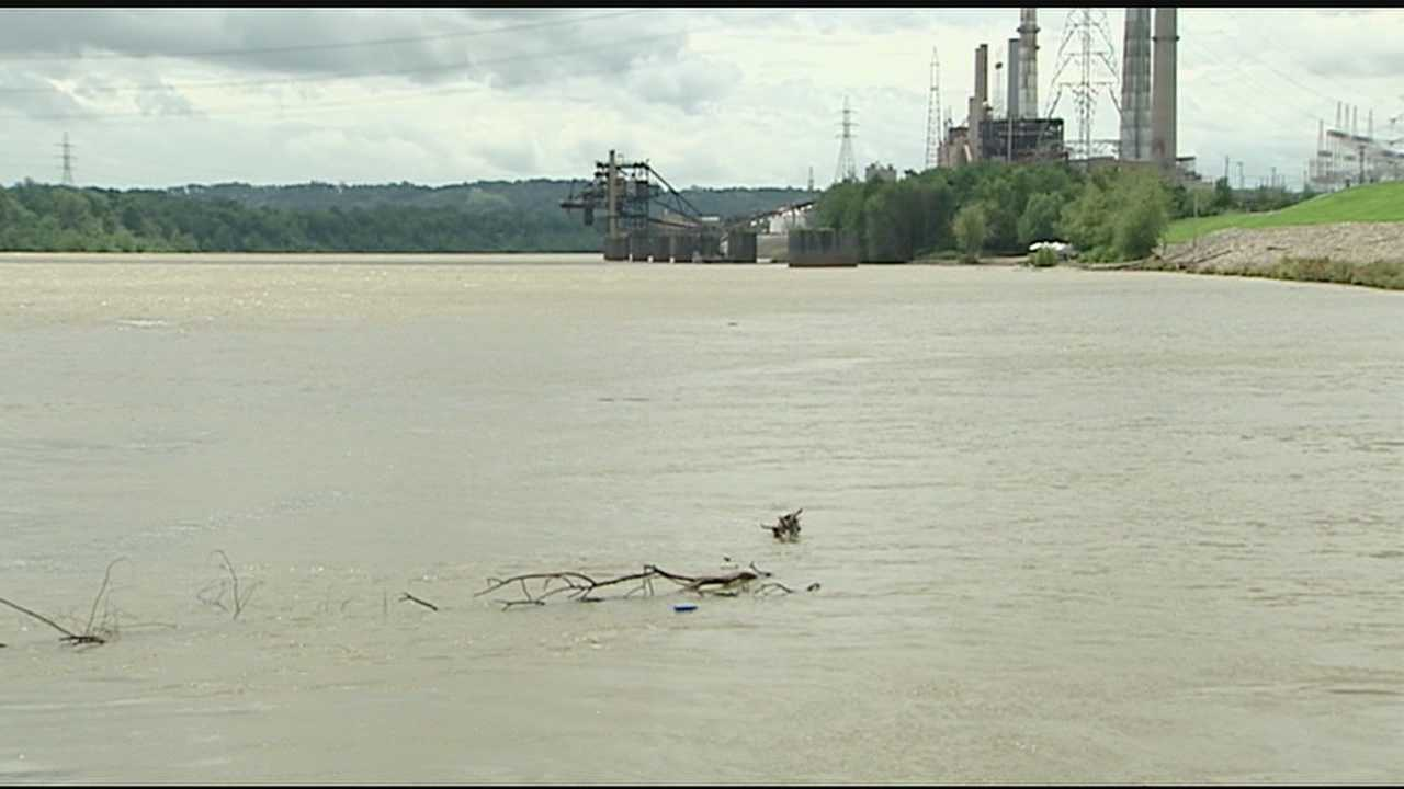 A 12-year-old boy, trying to swim across the Ohio River, is lucky to be alive after being swept away in a current.