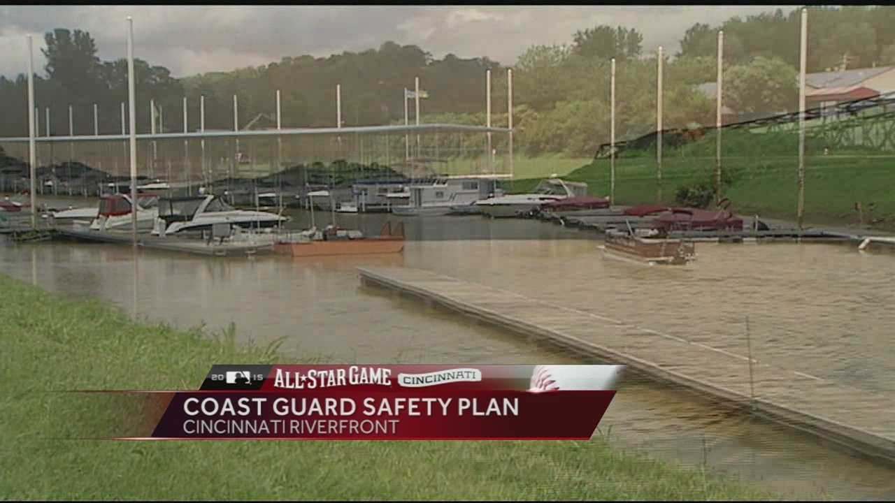 Cincinnati isn't the only place expecting lots of people for MLB All-Star events. The U.S. Coast Guard is getting ready for a crowd on the Ohio River.