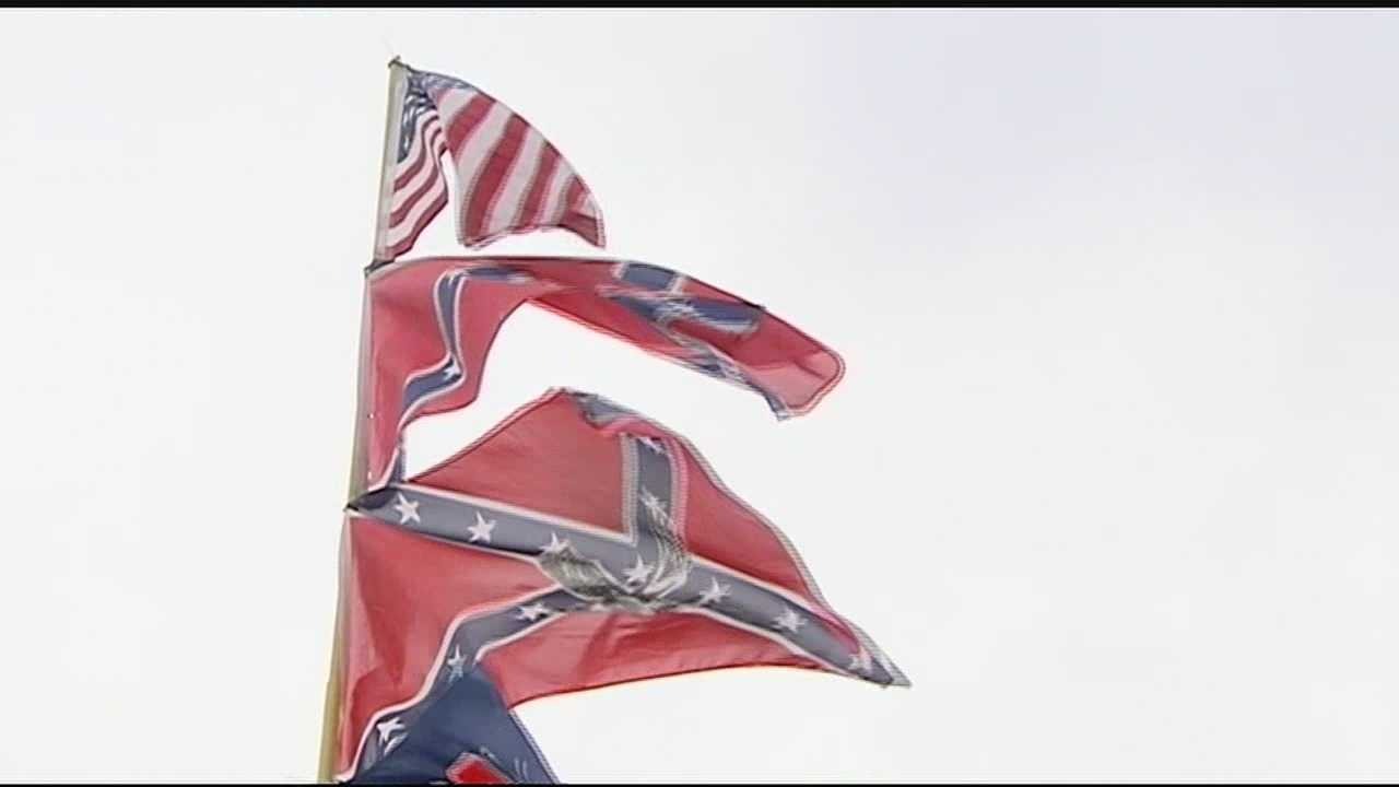 There will be plenty of confederate flags on the infield this weekend, and motor sports fans who told WLWT News 5's Elise Jesse, the flag represents history not racism.