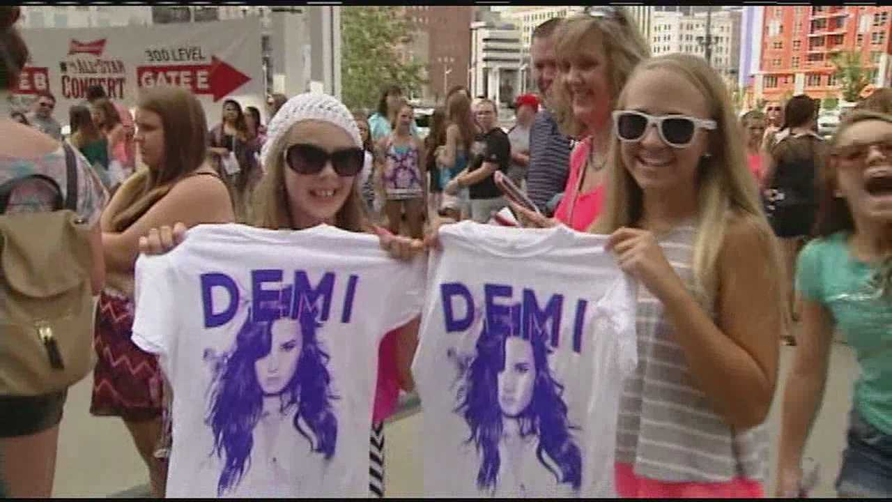 Paul Brown Stadium played host to the All-Star Concert Saturday night. Multi-platinum star Demi Lovato headlined the concert after Ariana Grande pulled out. British band Rixton played the opening act for Lovato.