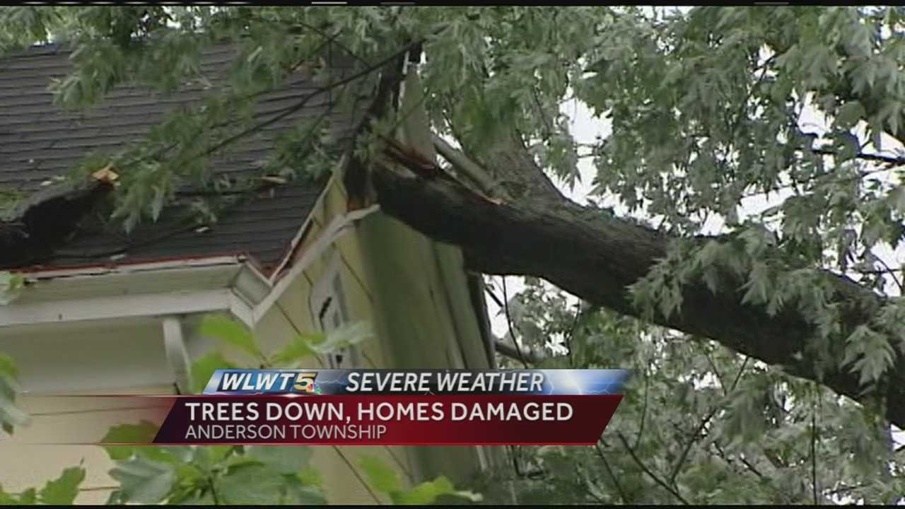 As the severe weather moved through Greater Cincinnati Monday people in Anderson Township were in the bulls-eye as high winds brought down trees.