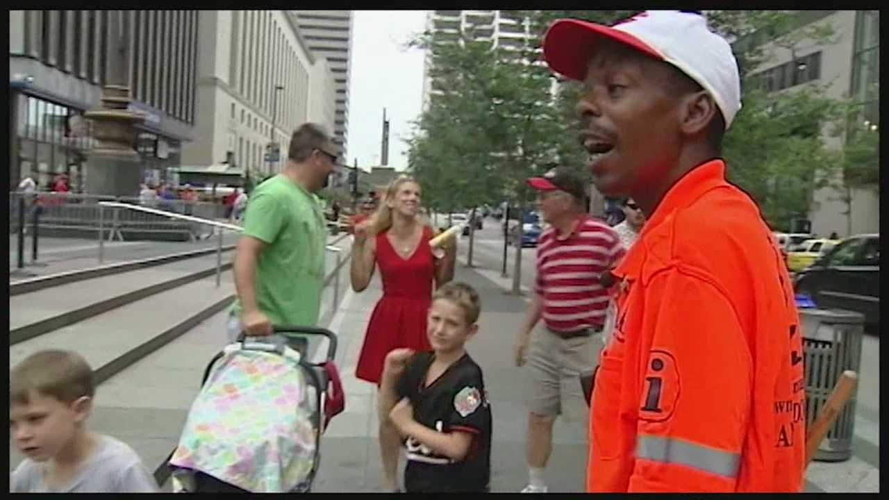 Ambassadors, wearing orange shirts, have been appointed to help people from out of town navigate through the city during All-Star Game week.
