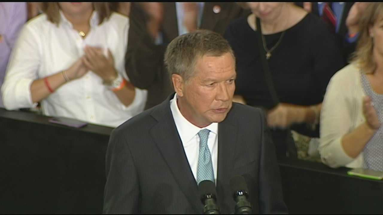 Ohio Gov. John Kasich, 63, launched his campaign at Ohio State University before a crowd of 2,000 at an event marking the entry of a strong-willed and sometimes abrasive governor in a nomination race now with 16 notable Republicans.