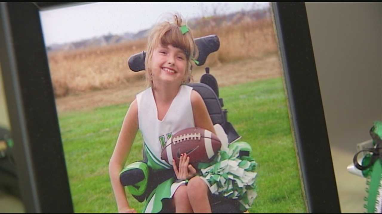 Destiny, a teenager with cerebral palsy, was denied a chance to try out for the cheerleading team at Harrison Junior High.