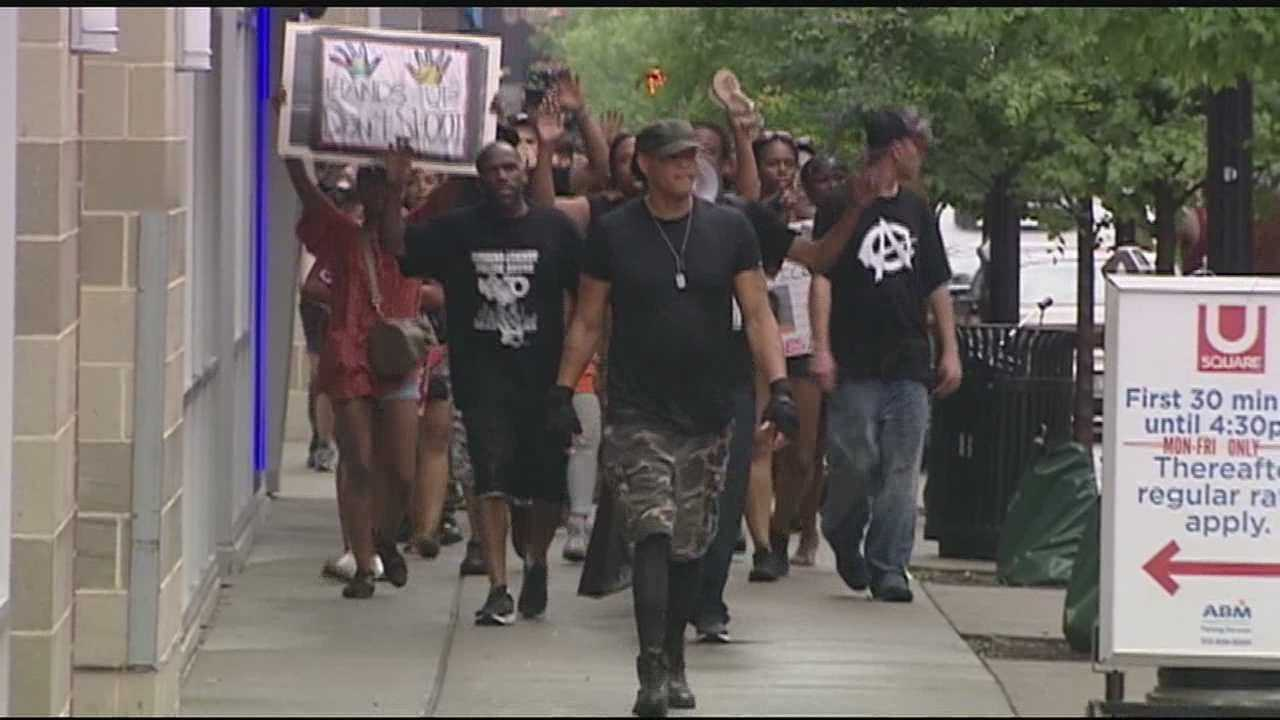 The Black Lives Matter group held a rally on University of Cincinnati's campus Sunday for Sam Dubose.