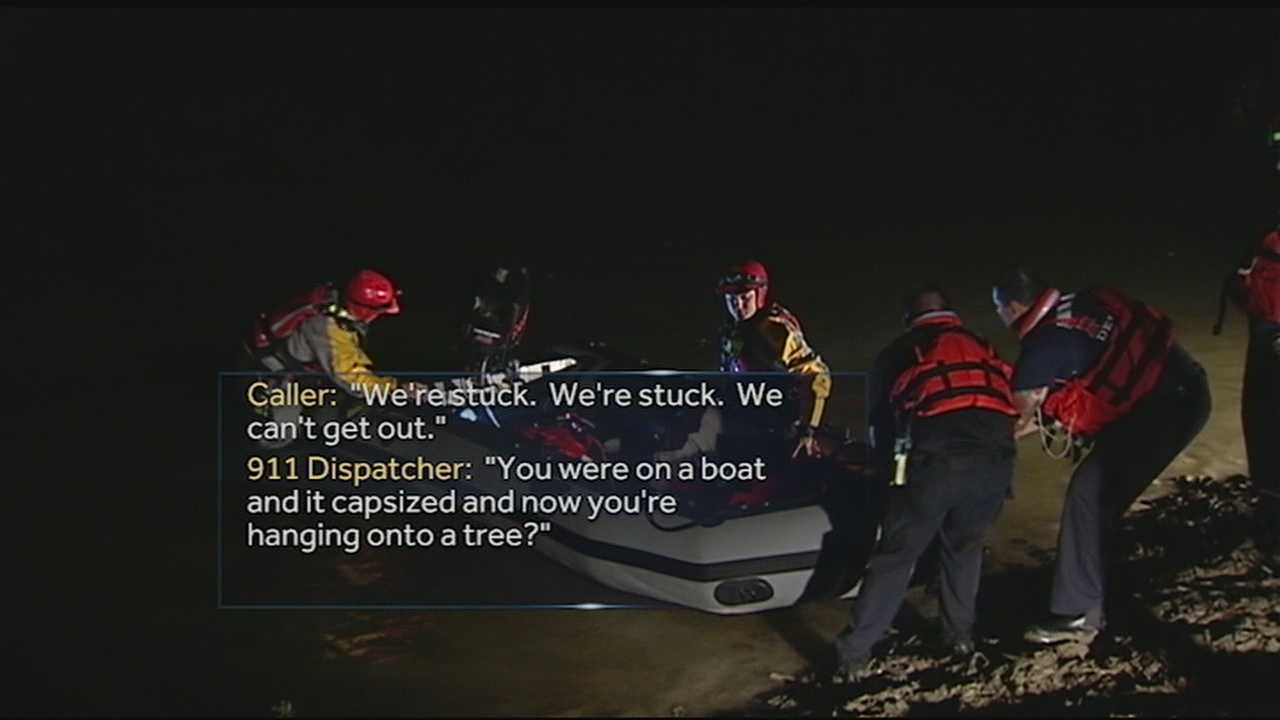 A father and his son were rescued from the Little Miami River early Monday morning after their boat capsized in Anderson Township.Emergency crews were called to the intersection of Mt. Carmel and Round Bottom roads near the Little Miami River around midnight.