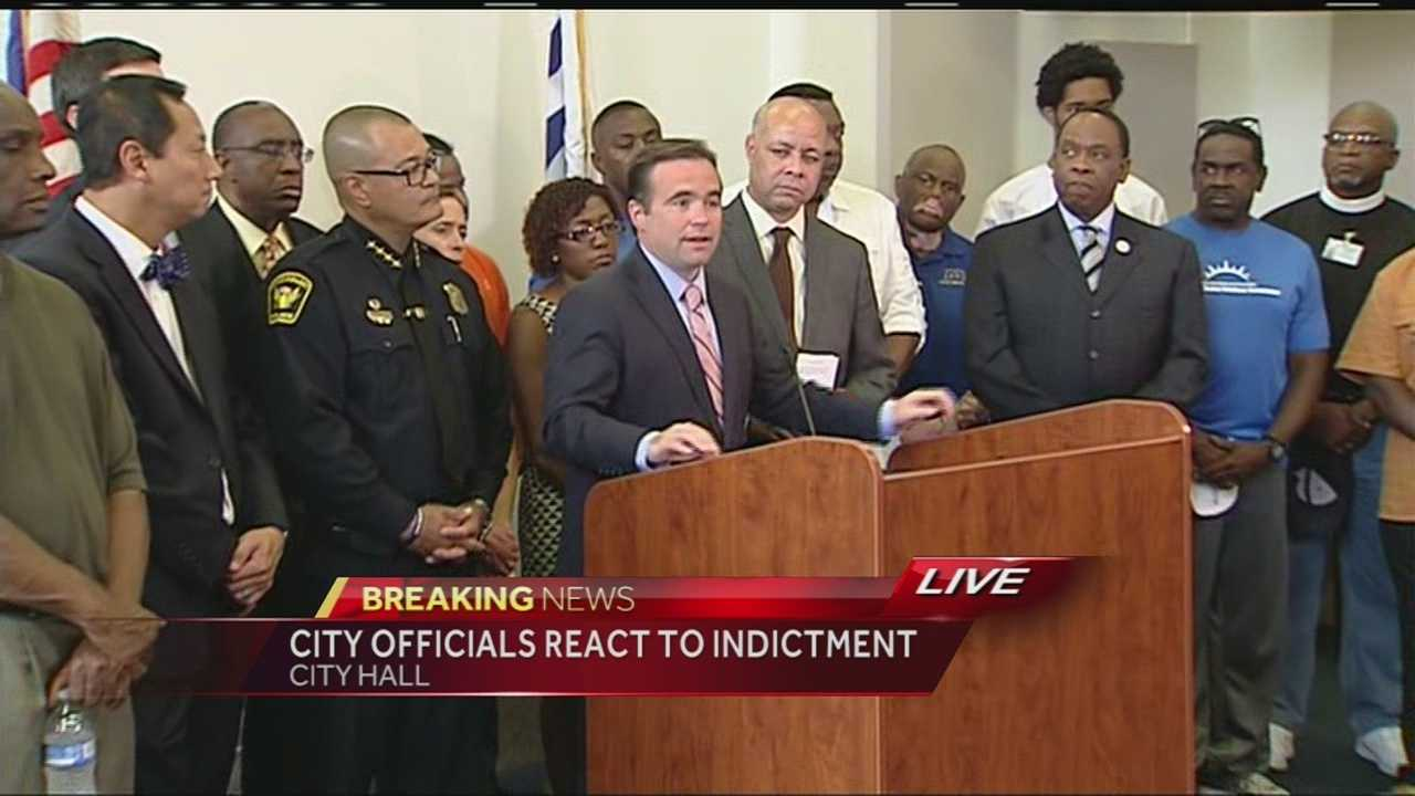 City Manager Harry Black, Mayor John Cranley, CPD Chief Jeffrey Blackwell, Bishop Bobby Hilton and UC president Santa Ono were among the speakers who reflected on the indictment of former UC Officer Ray Tensing as well as the state of the city.