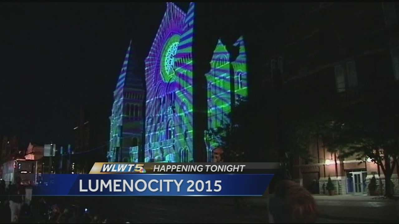 In its third year, the Cincinnati light show LUMENOCITY kicks off Wednesday with a dress rehearsal.