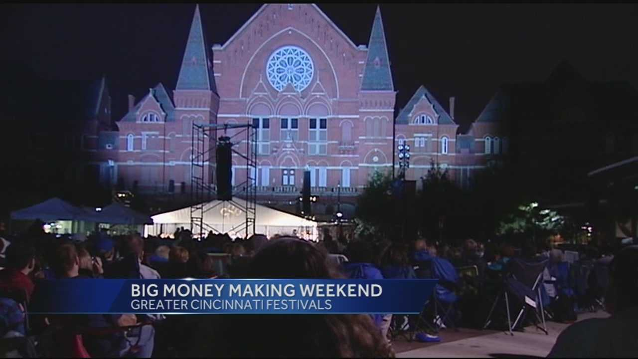 From LumenoCity, to Slide The City, to Glier's GoettaFest, to the Cincy Blues Festival, it's been a busy weekend all over Greater Cincinnati, which means extra money for vendors and business owners.