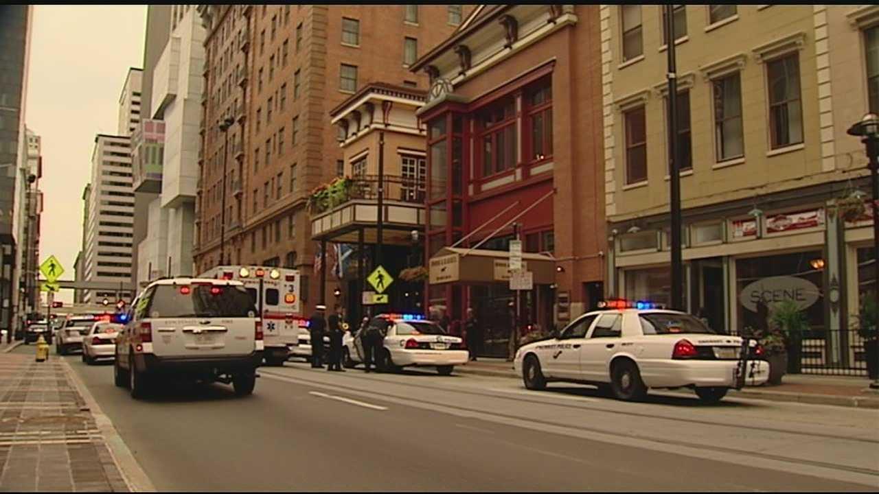 Gunfire erupted in broad daylight on Walnut Street Sunday.