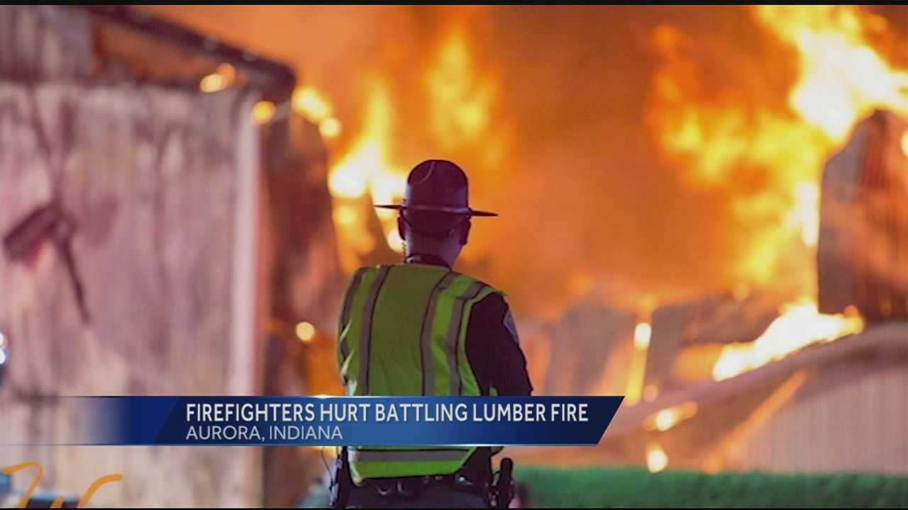 A building belonging to the Aurora Lumber Company caught fire just before midnight. A passerby noticed flames shooting from the roof and fire fighters found dangerous conditions when they arrived on scene, according to Aurora Fire Chief Jeff Lane.
