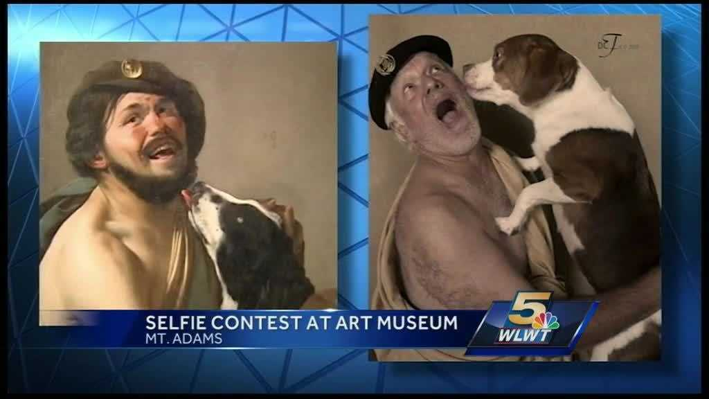 The Cincinnati Art Museum is known for its exhibits but this week on Facebook and Twitter, you may notice it for something else -- homemade selfie art.