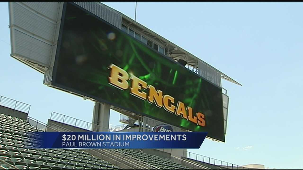 More than $20 million of improvements to Paul Brown Stadium will be on display for fans at Friday night's Bengals preseason opener against the New York Giants.