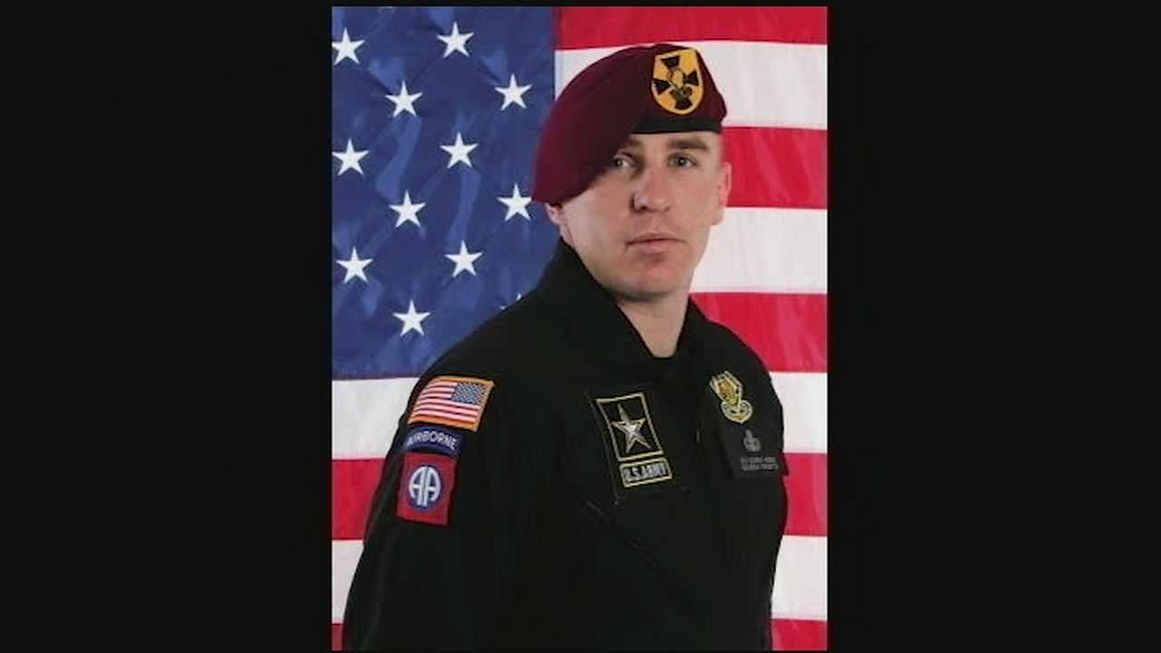A decorated 14-year Army veteran and home town hero is being honored all over Greater Cincinnati and the country after he died in a skydiving accident in Chicago Sunday. Sgt. First Class Corey Hood, 32, died after a midair collision with another Navy jumper during the Chicago Air & Water Show. The men had been performing a stunt, an Army Golden Knights parachute team spokeswoman said.
