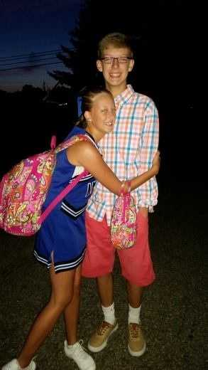 Nathan's heading to his first day at Amelia H.S., while Hayley is starting her first day at Amelia M.S.