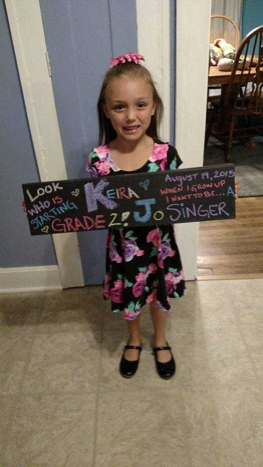 Keira's first day of second grade!