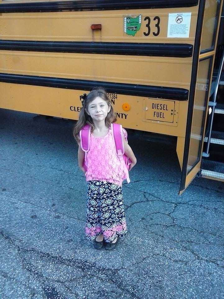 Cynthia's first day of first grade.