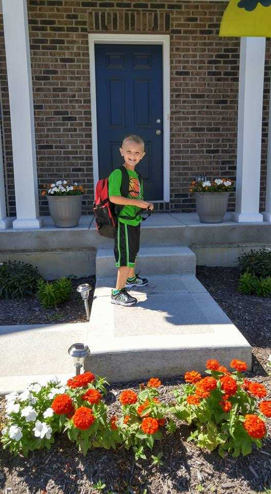 Logan's first day of kindergarten!