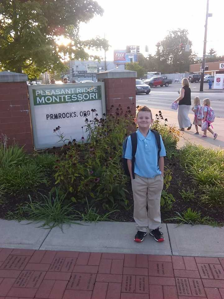 Memphis' first day as a first-grader at Pleasant Ridge Montessori.