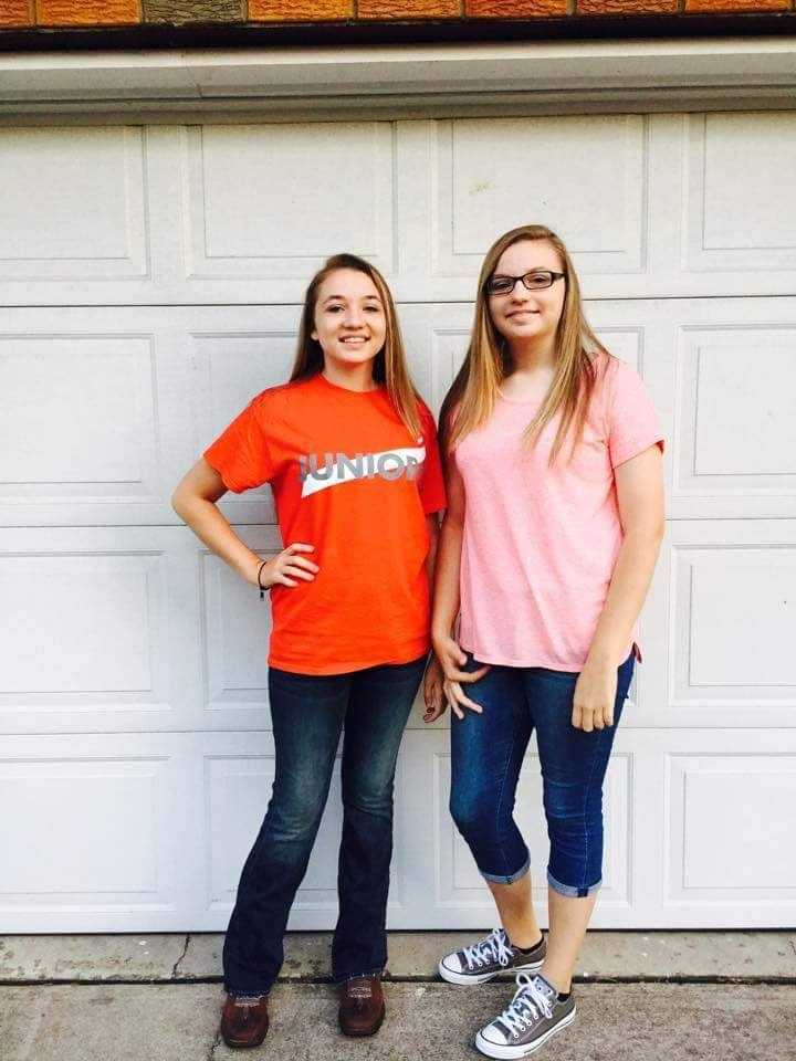 One's in eighth grade this year, the other is a junior!