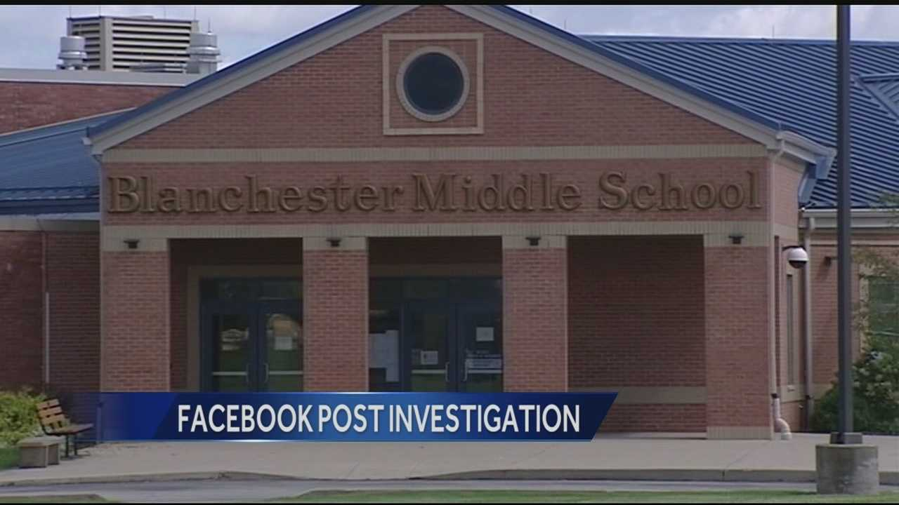 Blanchester Schools Dean Lynch said as soon as the district was tipped off to what a few 13-and 14-year-old cheerleaders wrote in a Facebook chat, they called police and began an investigation.