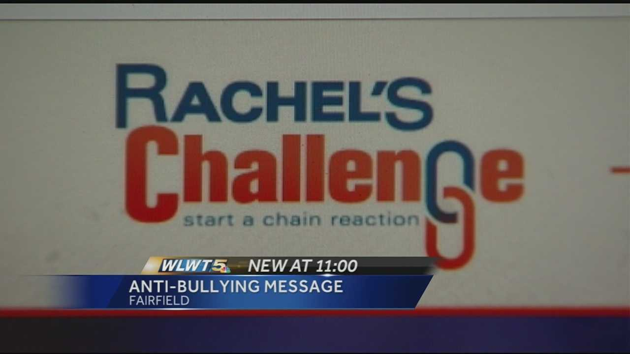 """Rachel's Challenge"" is an anti-bullying and anti-violence program designed to teach students how to replace negative acts with kindness and compassion."