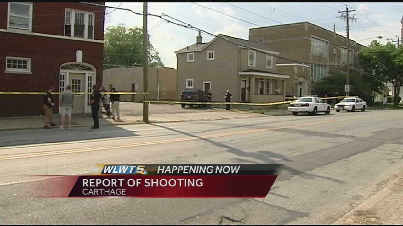 District 4 police confirmed officers are responding to reports of what was originally thought to be a shooting in Carthage.According to reports, a man was hit in the neck by something near the corner of Vine Street and Seymour Avenue.