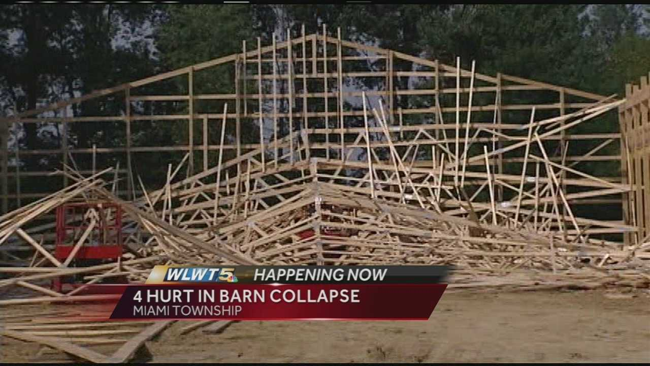 Barn collapse in Miami Township leaves several people injured