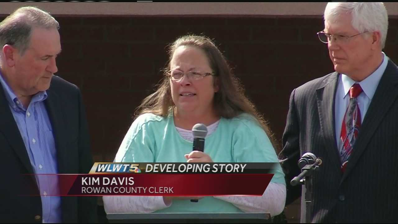 Kim Davis expressed gratitude to her supporters Tuesday after she was released from the Carter County jail facility.Davis supporters returned the favor by cheering her appearance and name and the principled stand she has taken the past few weeks in the name of religious freedom.
