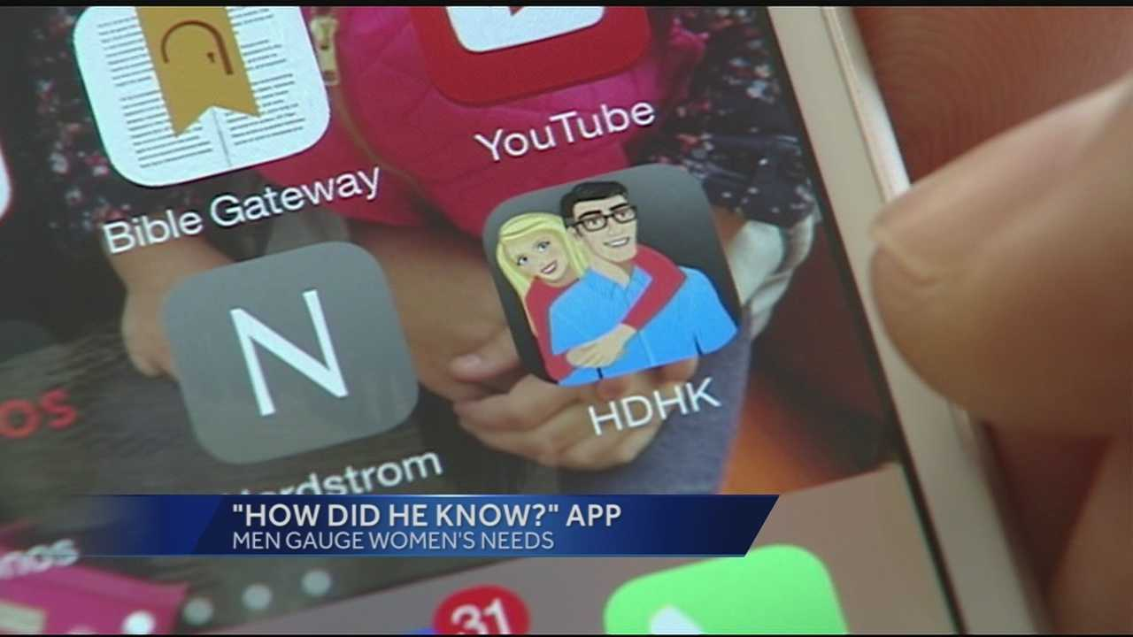App helps men anticipate partner's needs